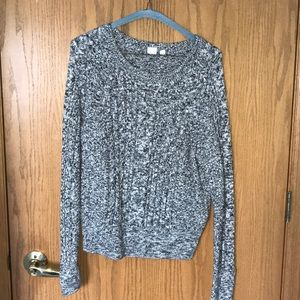 GAP Grey and White Speckled Sweater